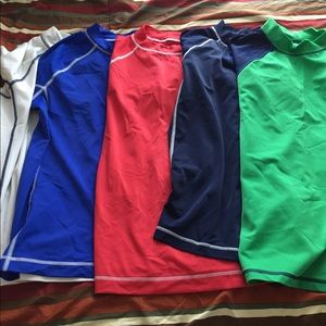 Brand new lot if 5 rash guards Lands End!